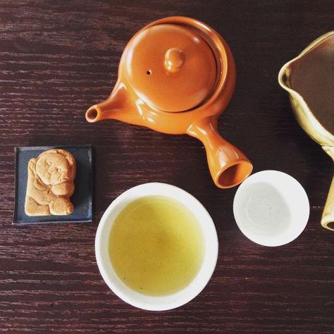 邪魔やな蹴飛ばしたろぉおもたけど ここは一息背中伸ばそう #お茶の時間 #煎茶 #狸のぽんぽこりん #信楽名物 (Instagram)