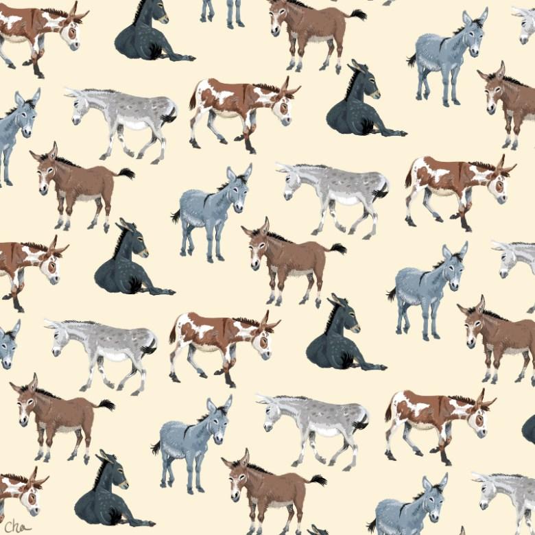 Motif donkeys