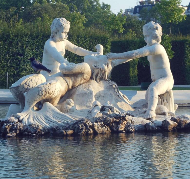 les jardins du Belvédère à Vienne
