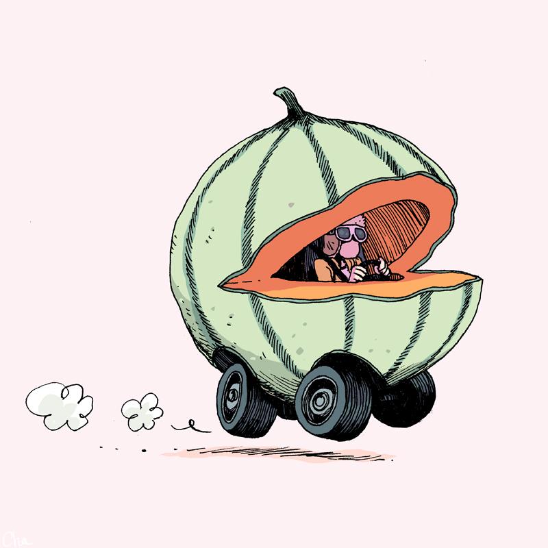 La voiture melon