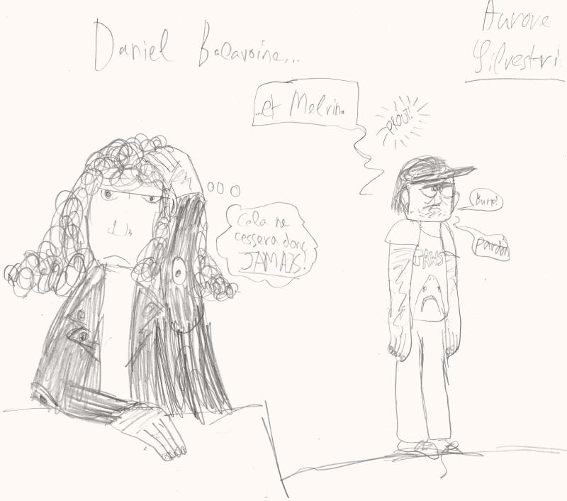 Daniel Balavoine et Melvin par Aurore Silvestri