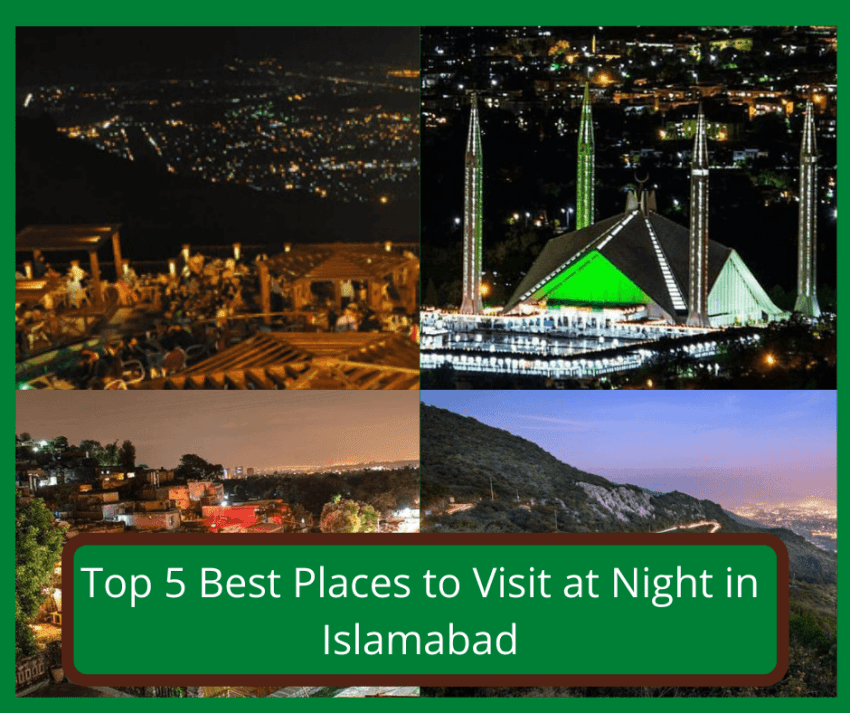Top 5 best places to visit at night in islamabad