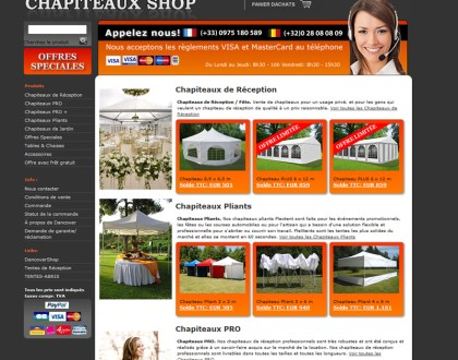 Shapiteaux shop