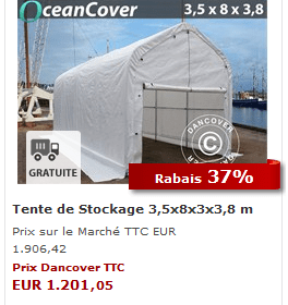 Tente de stockage blanc