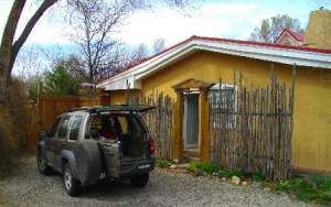 On the road in Taos, New Mexico
