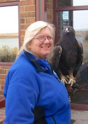 Diana Miller, director of the Raptor Center in Pueblo
