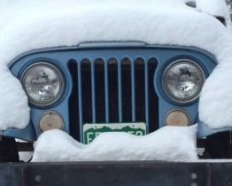 The old Jeep CJ-5 celebrates Candlemas.