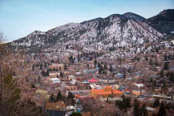 The old spa town of Manitou Springs, west of Colorado Springs