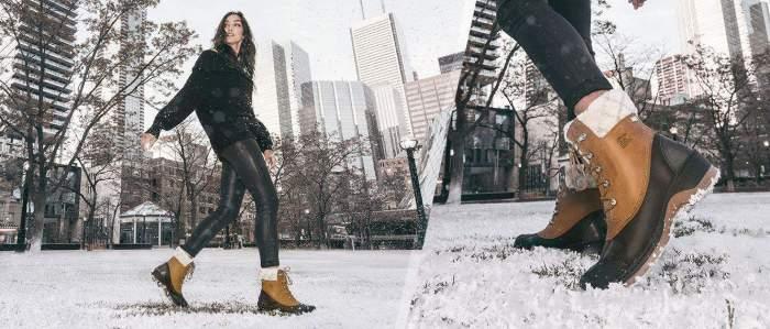 chaussuresonline-sorel-idéelook-tenue-maintiens-tendance-mode-femme-whistlermid-marron-bottesfourrées-hiver-froid