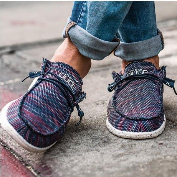 chaussuresonline-homme-fetesdesperes2019-tendance-cool-confort-mode-ideecadeau-heydudeshoes-wallysox-legerete