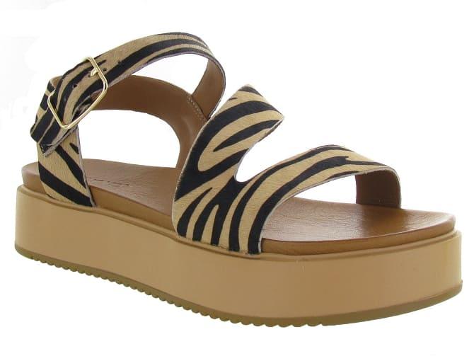 Sandales zébrés, motif animalier - Chaussuresonline