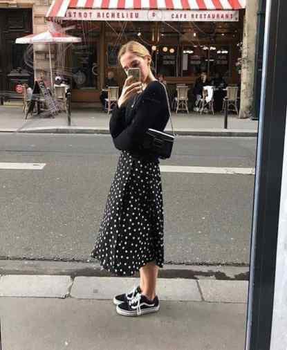 look vans jupe longue - chaussuresonline