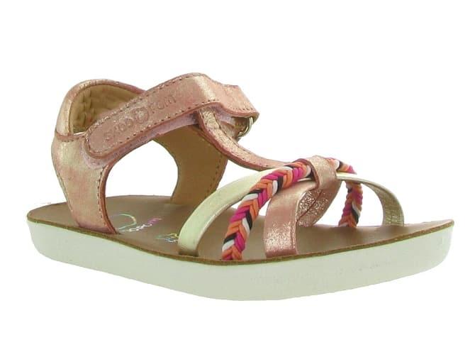Sandales Shoo Pom pour fille corail - modèle Goa Salome sur ChaussuresOnline.com