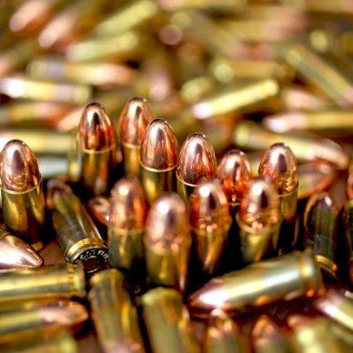 pile of handgun ammunition