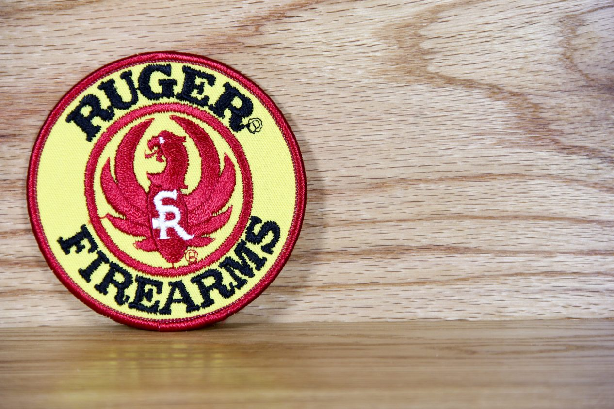 Ruger Firearms Patch on Wood
