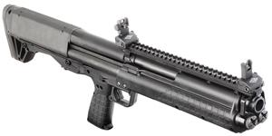 Picture shows a Kel-Tec KSG shotgun.