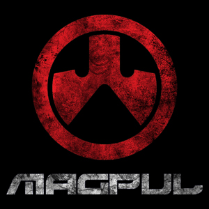 Black and red Magpul Industries logo