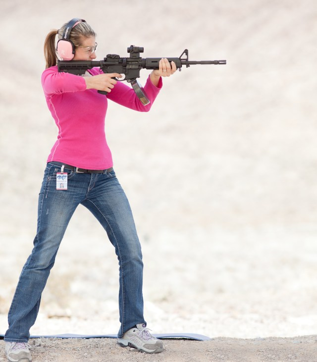 Use of a .22LR rifle makes practice easy and enjoyable