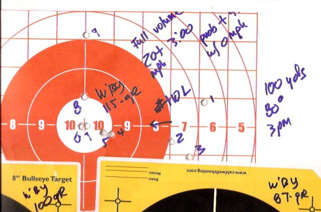 Target With Shot Markings
