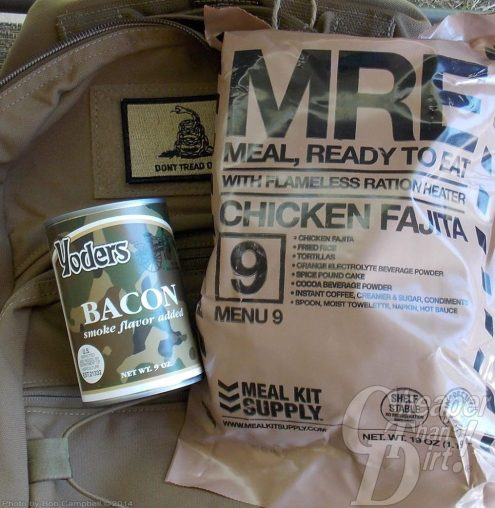 MREs and other goods for a food supply