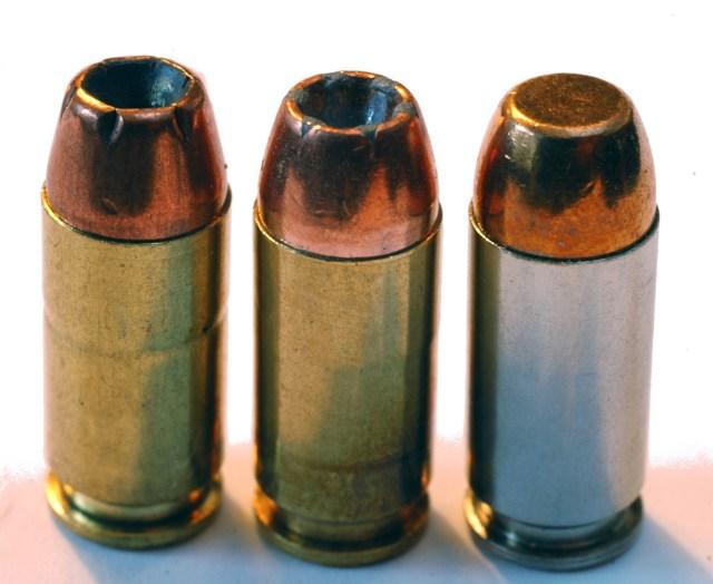 .40 S&W Remington 155-gr-JHP Black Hills 165-gr-JHP Truncated Nose American Eagle-180-gr-FMJ