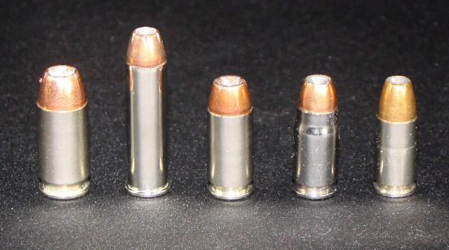multiple firearm cartridges