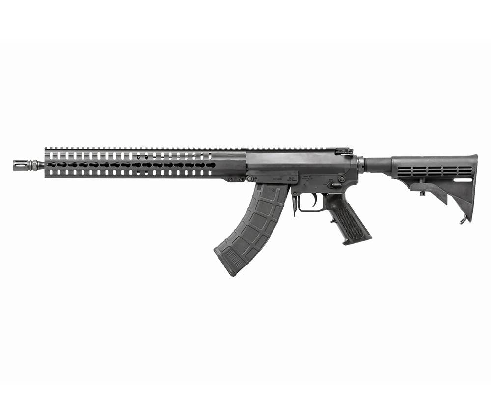 CMMG Mutant AR-15 style platform rifle that accepts AK-47 magazines
