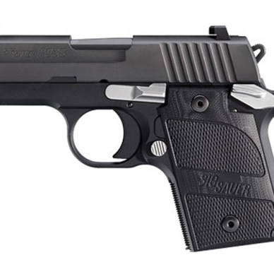 All black SIG P938 9mm subcompact handgun
