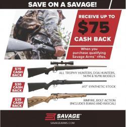 Savage arms rebate graphic