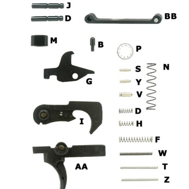 AR Lower Parts Diagram