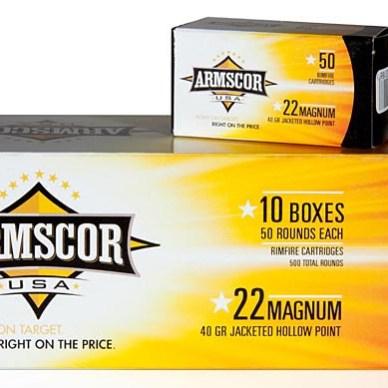 Armscor .22 Magnum ammo