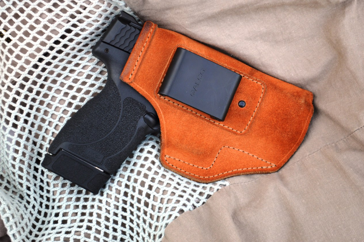 Smith and Wesson Shield in a Galco Stow and Go holster