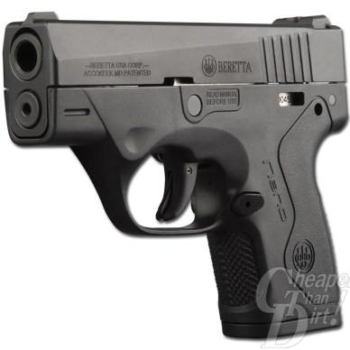 Picture shows the right side of the Beretta Nano pistol.