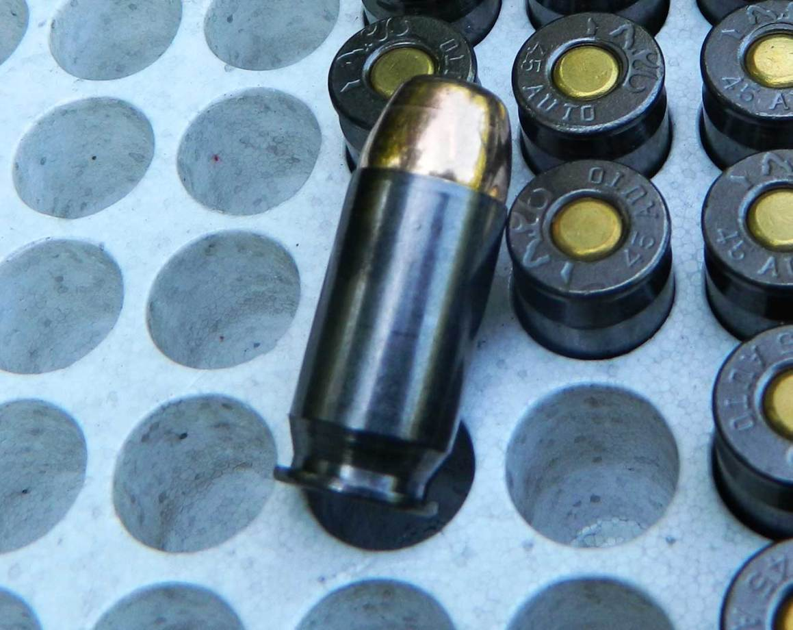 Plated cartridge of Browning amunition