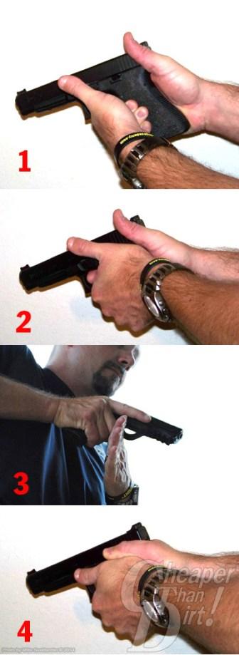 Perfect Handgun Grip Info Graphic