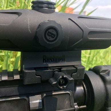 twist-off turret covers on the Bushnell Enrage red dot scope