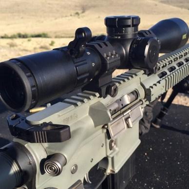 Bushnell LRTSi 3-12x44mm mounted on Battle Rifle Company Cutlass rifle