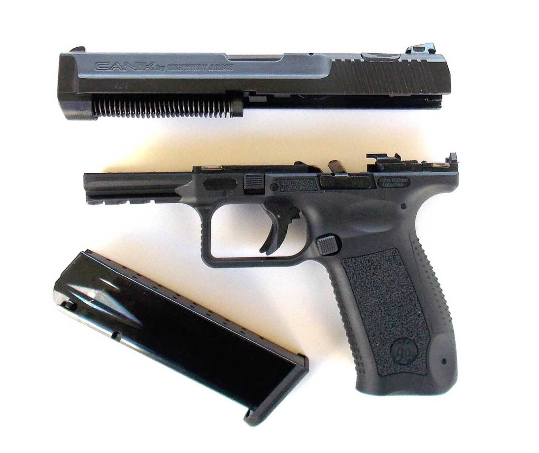 Field stripped Canik 55 pistol