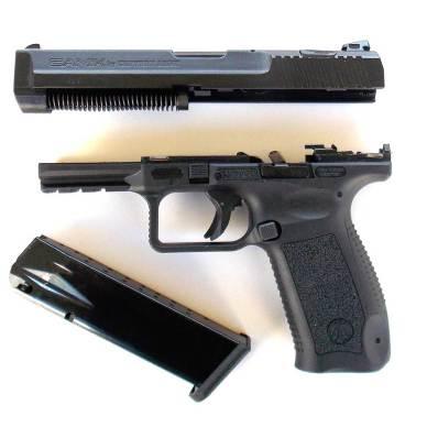 Field stripped Canik 55 pistol