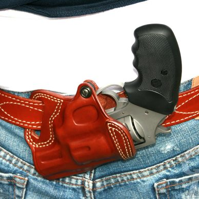 Charter Arms 9mm Pit Bull in Galco SOB Holster