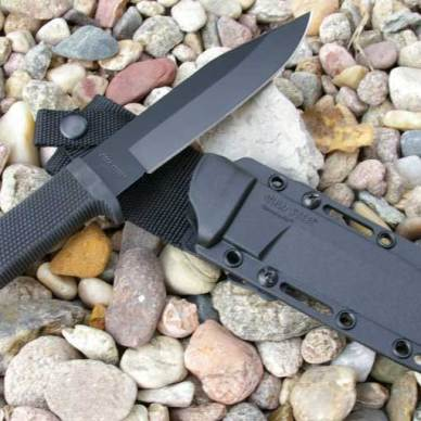Cold Steel SRK knife on Kydex sheath