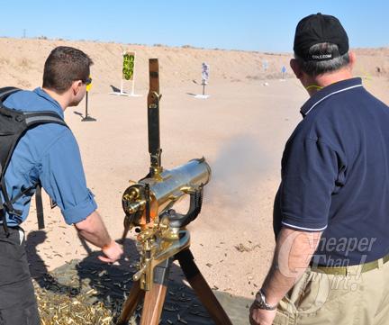 CTD Martin Shooting the Colt Gatling Gun