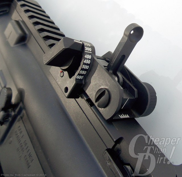 Black Colt M4A1 focused on the sights