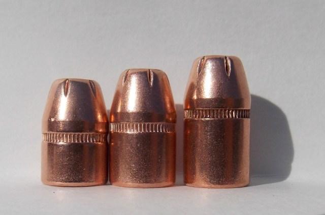 125-, 158- and 180-grain Hornady XTP bullets for handloading