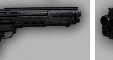 DP-12 Shotgun right profile black