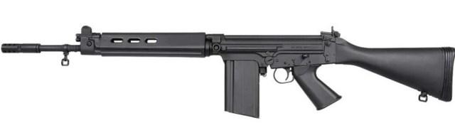 Black FAL rifle