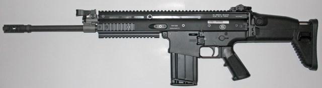 Black FN SCAR rifle