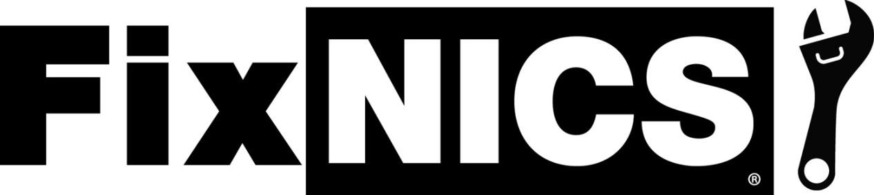 FixNICS black and white logo