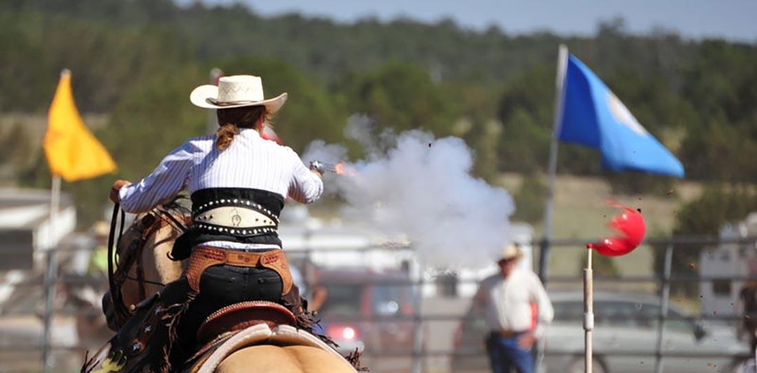 Cowboy Mounted Single Action Shooting