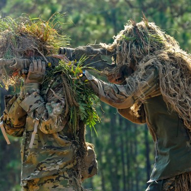 U.S. Marines in Ghillie Suits